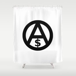 Anarcho-Capitalism Shower Curtain