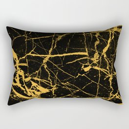 Orange Marble - Abstract, textured, marble pattern Rectangular Pillow