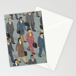 Happy commuter Stationery Cards