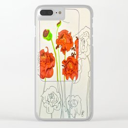 Perspective on Flowers Clear iPhone Case
