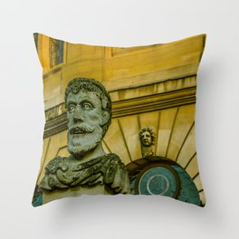 Emperor Heads Sheldonian Theatre Oxford University England Throw Pillow
