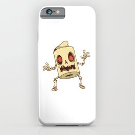 Zombie Toilet Paper Monster Best Gift iPhone Case