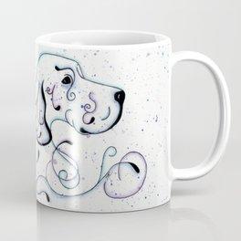Abstract Blue English Setter Coffee Mug