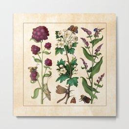 Flowers II - Grandes Heures d'Anne de Bretagne Metal Print