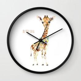 Be YOU tiful Giraffe Baby Wall Clock