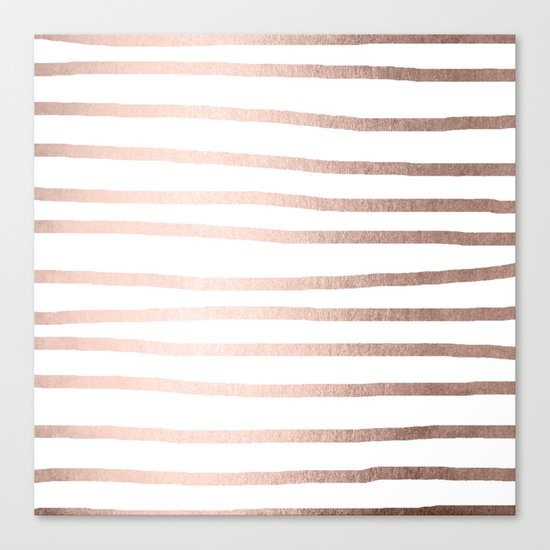 Simply Drawn Stripes Moon Dust Bronze Canvas Print