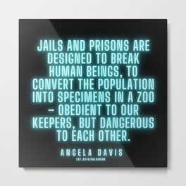 11   |  Angela Davis | Angela Davis Quotes |200814 Metal Print