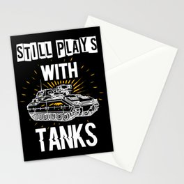 funny tank t-shirt for tank driver gift Stationery Cards