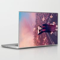 letter Laptop & iPad Skins featuring letter by Juli Gm