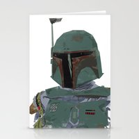 boba fett Stationery Cards featuring Boba Fett by Hey!Roger