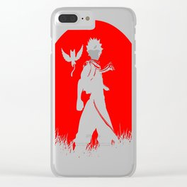 Red Moon Dragon Slayer copy Clear iPhone Case