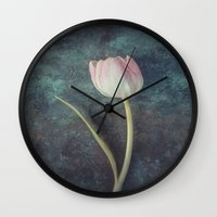 tulip Wall Clocks featuring Tulip by Maria Heyens