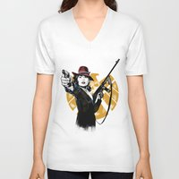 peggy carter V-neck T-shirts featuring Agent Peggy Carter by PawixZkid