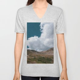 Sunny Afternoon in Colorado Mountains - Mt. Bross 4 Unisex V-Neck