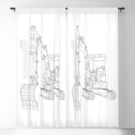Mini Excavator Blackout Curtain