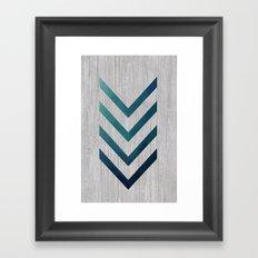 Blue Arrow  Framed Art Print
