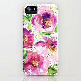 Peonies in Bloom iPhone Case