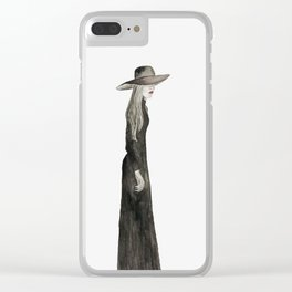 """Southern Gothic Witch Coven Watercolor; """"Aura"""" Clear iPhone Case"""
