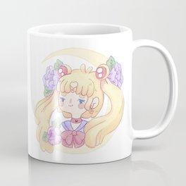Sailor Moon & Peonies Coffee Mug