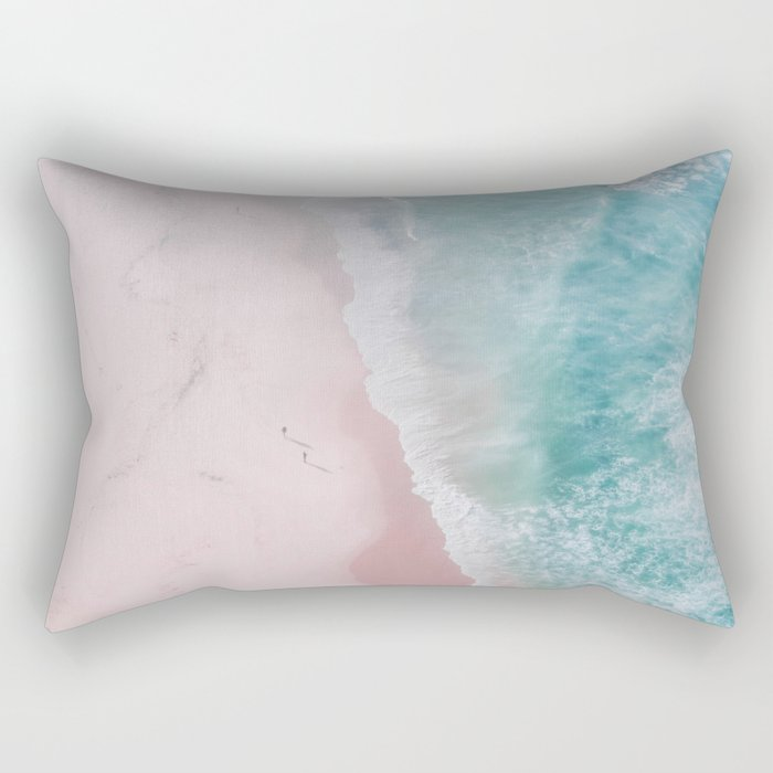 ocean walk Rectangular Pillow
