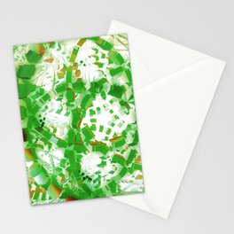 Green industrial abstract Stationery Cards