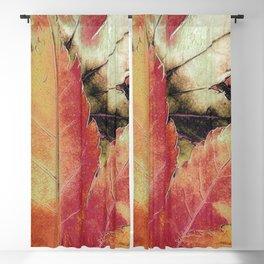 Autumn Maple Abstract Blackout Curtain