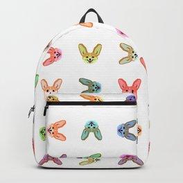Multicolor Cardigan Corgi Face Pattern - version four Backpack