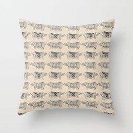 Rhino Lines Throw Pillow