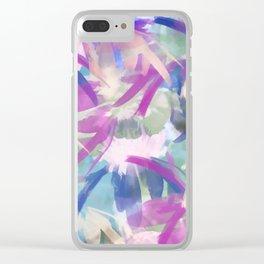 Pastel Floral Extravaganza Abstract Clear iPhone Case