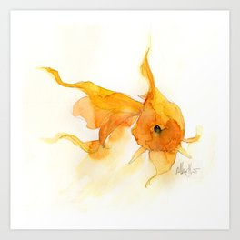 Watercolor Goldfish 1 Art Print