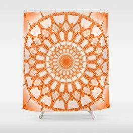 Flower Mandala serie orange Shower Curtain