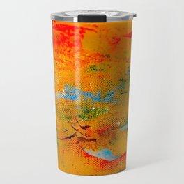 Paint Splatters on Canvas Travel Mug