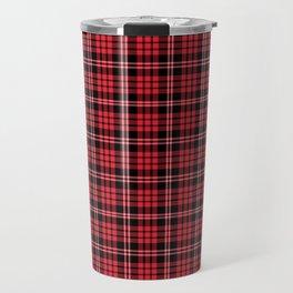 Red & Black Tartan Plaid Pattern Travel Mug