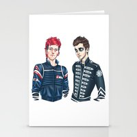my chemical romance Stationery Cards featuring My Chemical Pilots by poweredbycokezero