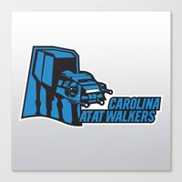 nfl Canvas Prints featuring Carolina AtAt Walkers - NFL by Steven Klock