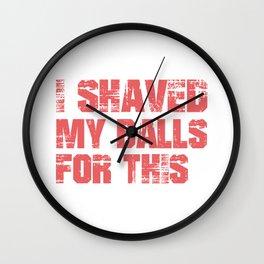 Shaved Balls Wall Clock