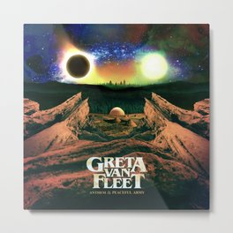 greta van fleet album anthem of Metal Print