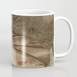 Vintage Painting of Caught Brook Trout (1868) Coffee Mug