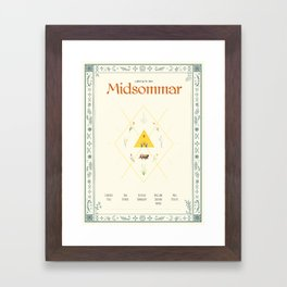 Midsommar Movie Poster Framed Art Print