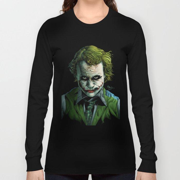 Heath Ledger Joker Long Sleeve T-shirt