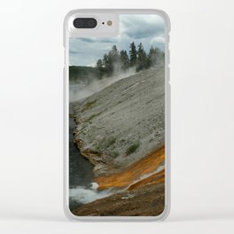 Thermal Geyser Runoff Into Firehole River Clear iPhone Case