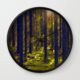Green Forest #decor #society6 Wall Clock