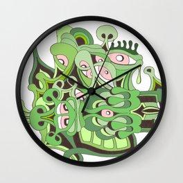 reptilian retina Wall Clock