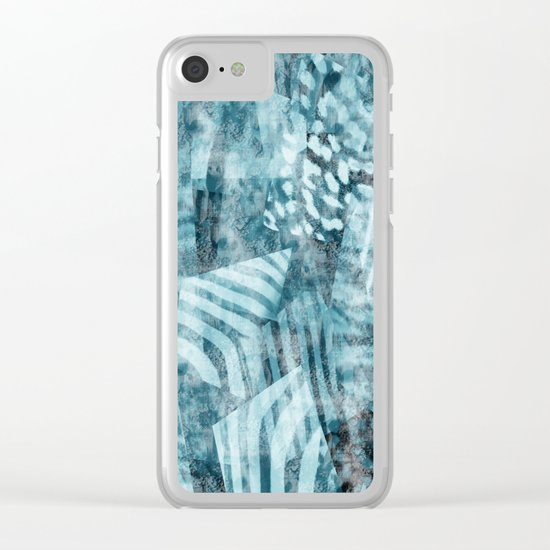 Blue safari Clear iPhone Case