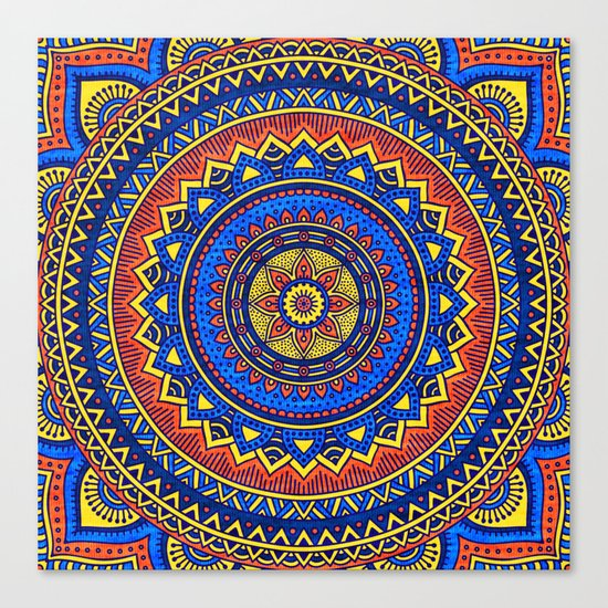 Hippie mandala 57 Canvas Print
