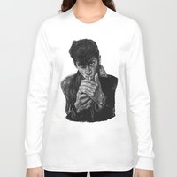 arctic monkeys Long Sleeve T-shirts featuring ARCTIC ALEX by Aoife Rooney Art
