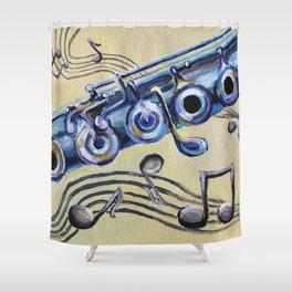 Flute Blues Shower Curtain