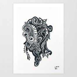Henna Design 8 (Dancing in the Street) Art Print
