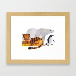 Unlikely Friends Framed Art Print