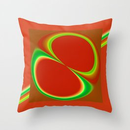 Red Eight Throw Pillow